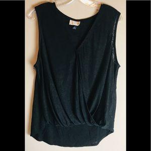 Universal Thread Tank Open Front Black Shirt  XL